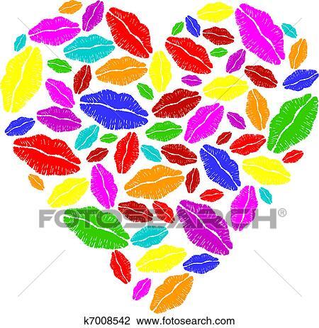 Desenhos de corações coloridos