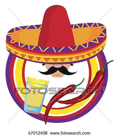 Clipart of Sombreros k7012720 - Search Clip Art, Illustration ...