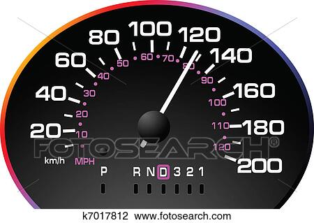 Clipart of Speedometer. Accelerating Dashboard k7017812 ...