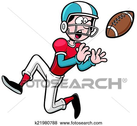 clip art of american football player k21980788 search clipart rh fotosearch com football player clipart png football playing clipart