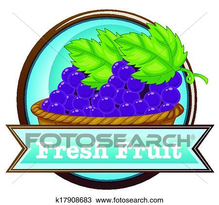 Clipart uno frutta fresca etichetta con uno for Clipart frutta