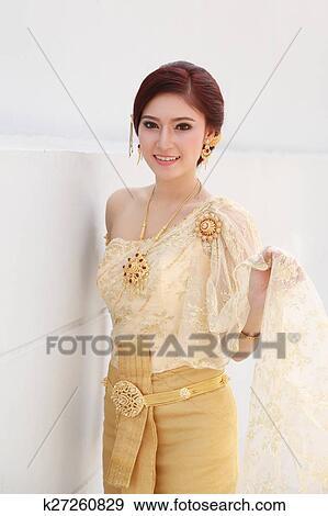 创意摄影图片库 - 妇女, 带, 泰国人, 衣服