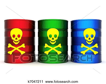 Clipart of Toxic waste barrel k7047211 - Search Clip Art ...