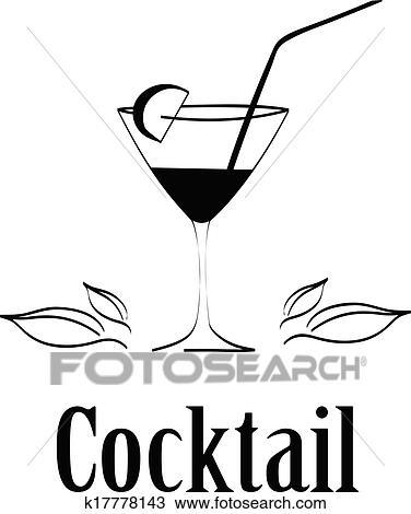 clipart cocktailglas design men karte hintergrund vektor k17778143 suche clip art. Black Bedroom Furniture Sets. Home Design Ideas