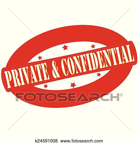 Clip Art of Private and confidential k24591008 - Search Clipart ...