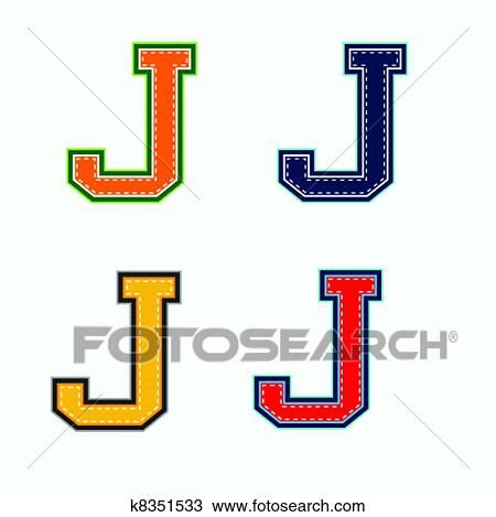 clipart of j college letter k8351533 search clip art illustration rh fotosearch com letter j clipart black and white