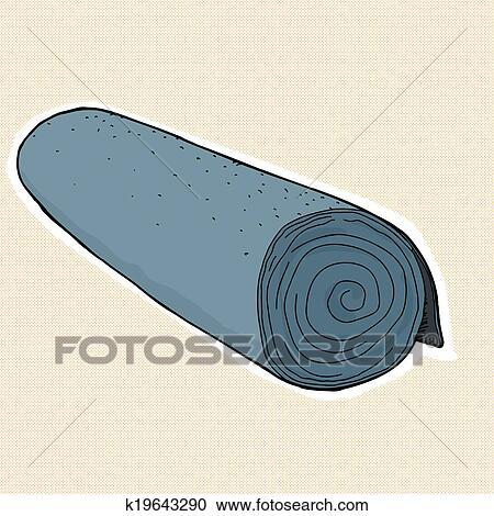 clipart rouleau de moquette k19643290 recherchez des clip arts des illustrations des. Black Bedroom Furniture Sets. Home Design Ideas