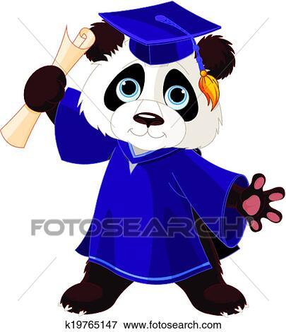 剪贴画 - 熊猫, 毕业