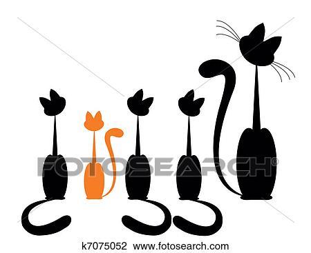 Clipart famiglia gatto k7075052 cerca clipart for Gatto clipart
