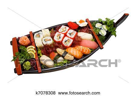 bilder sushiplatte satz verschieden arten von maki sushi und nigiri sushi k7078308. Black Bedroom Furniture Sets. Home Design Ideas