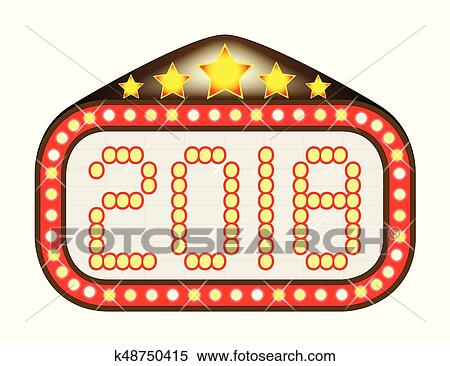 clipart of 2018 movie theatre marquee k48750415 search clip art rh fotosearch com marquee clipart free marquee clipart png