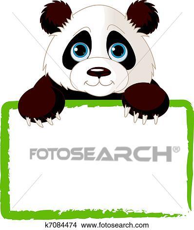 clipart of cute panda card k7084474 search clip art illustration rh fotosearch com cute panda clipart images cute panda clipart free