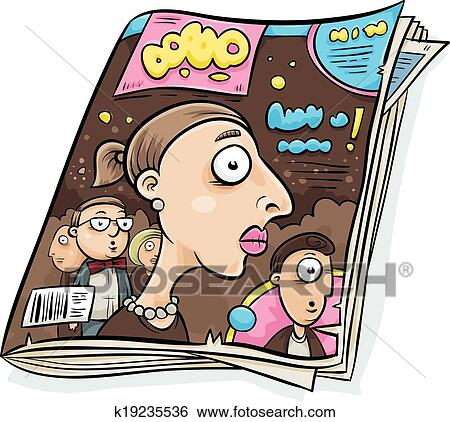 Clip Art of Tabloid Magazine k19235536 - Search Clipart ...