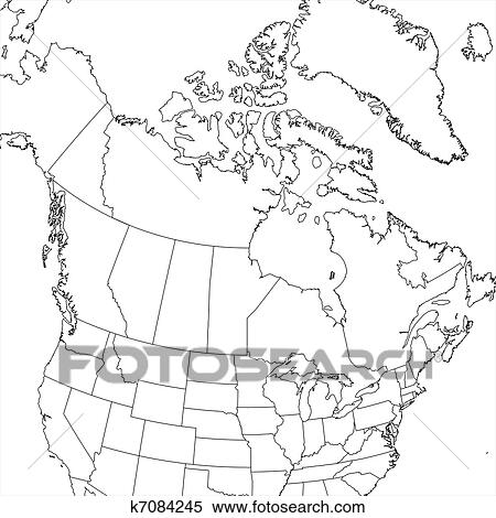 Stock Illustration of Blank Canada Map k7084245 Search Clipart
