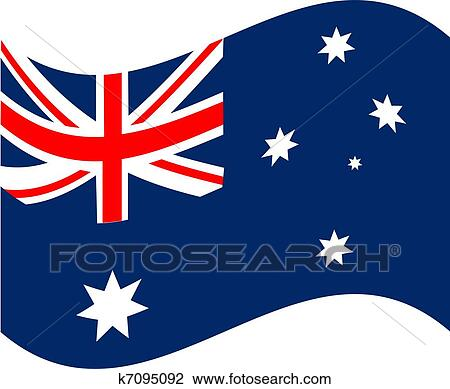 clipart of australia flag k7095092 search clip art illustration rh fotosearch com australia clipart free australia clip art for kids