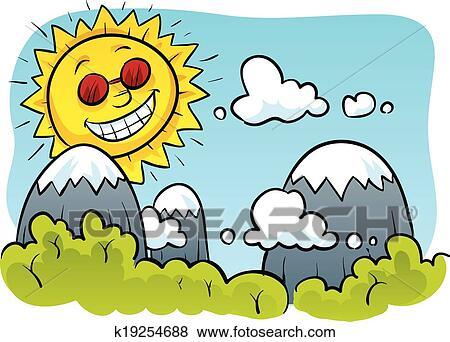 剪贴画 - 开心, 太阳