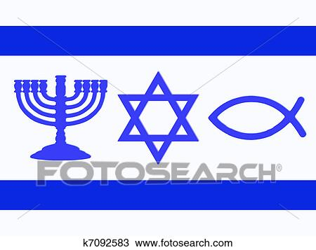 Stock Photo Of Flag Of Israel K7092583 Search Stock
