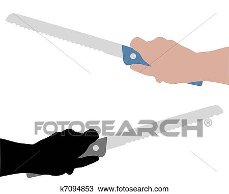Bread Knife Drawing Drawing Bread Knife With
