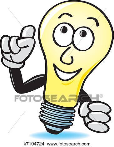 lampadina inventore : cartone animato, lampadina Visualizza la Grafica Clip Art ingrandita