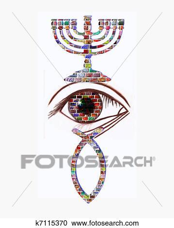 Stock Illustrations Of Christian And Jewish Symbols