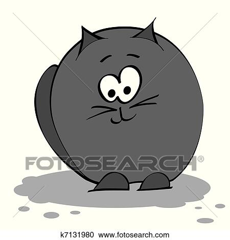 Clipart nero gatto grasso k7131980 cerca clipart for Gatto clipart