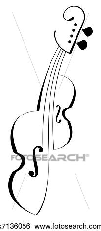 Stock Images of Viola, violin - vector icon k7136056 - Search ...