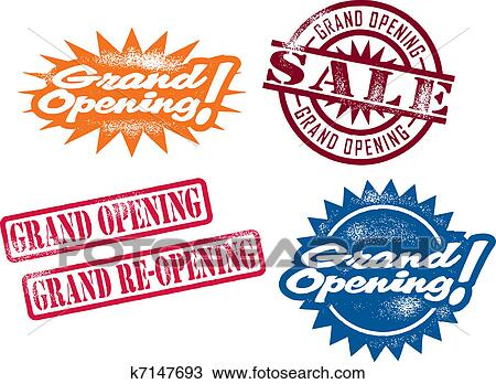 clipart of grand opening stamps k7147693 search clip art rh fotosearch com grand opening banner clip art