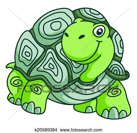 Clipart tortue rigolote dessin anim k20589384 recherchez des clip arts des illustrations - Clipart tortue ...