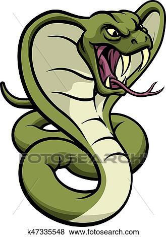 clip art of cobra snake viper mascot k47335548 search clipart rh fotosearch com vipère clipart dodge viper clipart