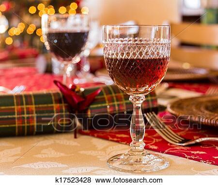 照片 - 英语, 圣诞节, 桌子, 带, 雪利酒, 玻璃 k17