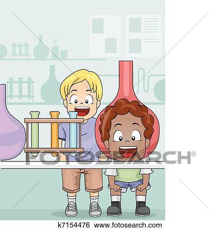 剪贴画 - 科学实验室