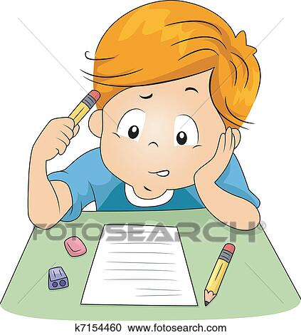 Clipart of Kid Exam k7154460 - Search Clip Art ...