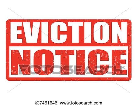 Clip Art Of Eviction Notice Stamp K  Search Clipart