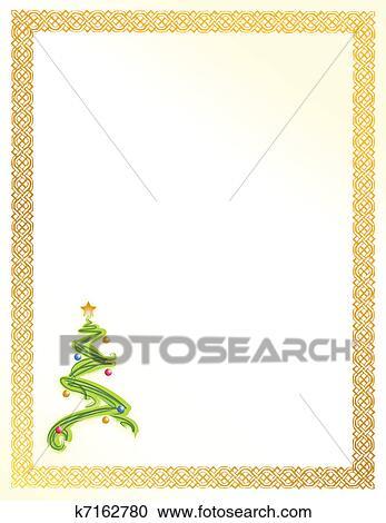clipart weihnachtsbaum karte abbildung k7162780. Black Bedroom Furniture Sets. Home Design Ideas