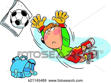 男学生, 足球运动员, 放学后, 玩, 带, 足球, ball.图片
