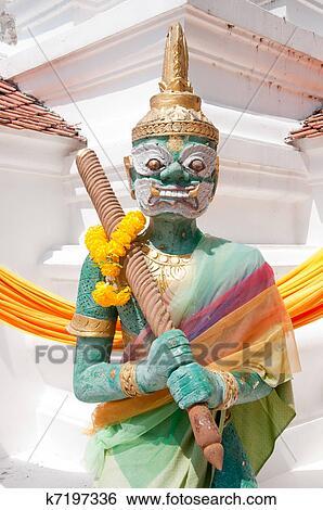 图片银行 - 泰国人, 艺术, 巨人, 雕像