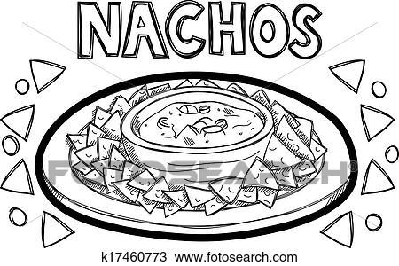 Super Nachos Clipart Clipart Nachos Doodle