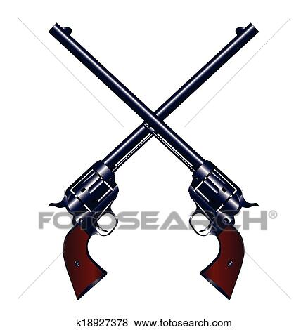clip art of crossed guns k18927378 search clipart illustration rh fotosearch com guns clipart gun clipart images