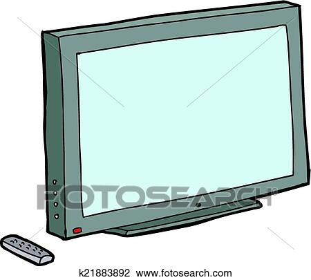clipart of isolated tv with remote k21883892 search clip art rh fotosearch com clipart télévision clipart television set
