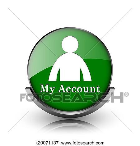My account icon vector