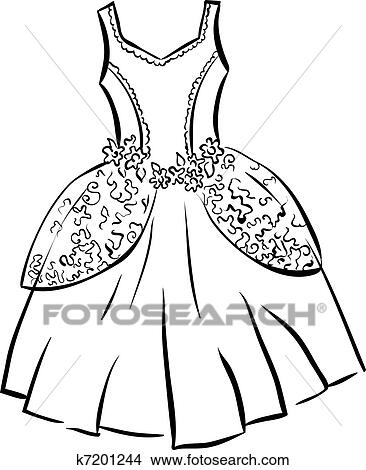 Clipart Of Retro Dress K7201244