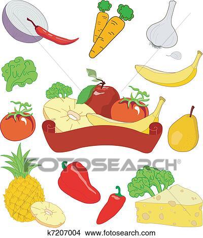 Clipart frutta e verdura k7207004 cerca clipart for Clipart frutta