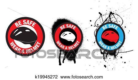 clip art of safety badges or stickers or symbols for bike helmet rh fotosearch com car stickers clipart stickers clipart black and white