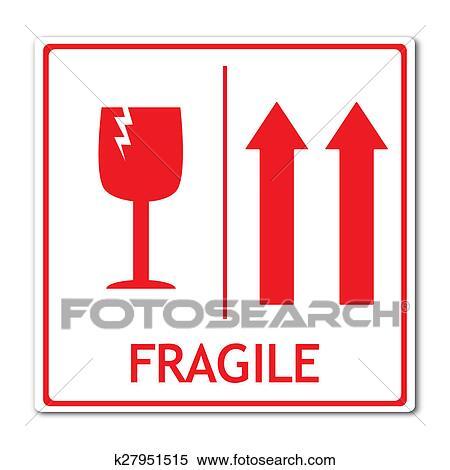 stock illustration of fragile sign k27951515 search clipart rh fotosearch com fragile logo picture fragile logo handle care