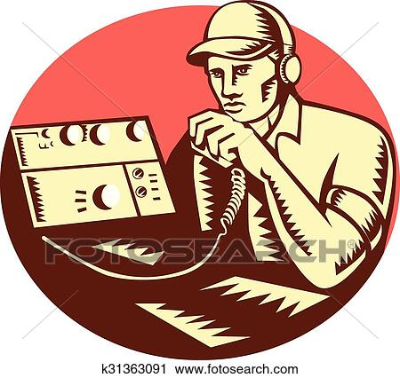clipart of ham radio operator circle woodcut k31363091 search clip rh fotosearch com ham radio clipart images ham radio clip art antennas