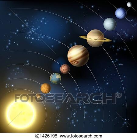 Clipart of Solar system from space k21426195 - Search Clip ...