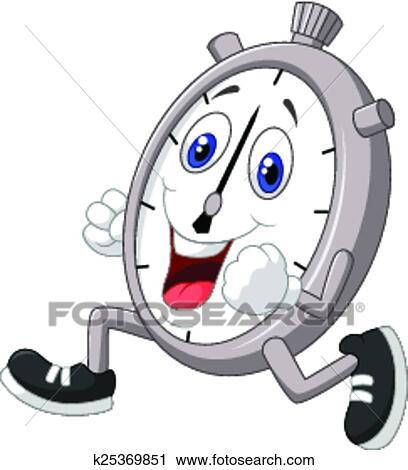 Clipart dessin anim chronom tre courant k25369851 - Chronometre et minuteur ...