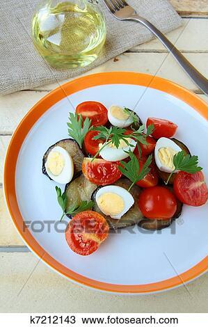 Салат яйца баклажаны помидоры