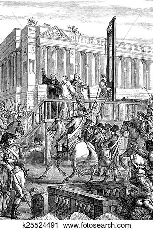 Clipart of Execution of King Louis XVI k25524491 - Search ...