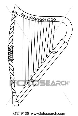 Clipart of Irish harp - vector k7249135 - Search Clip Art ...